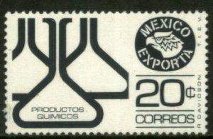 MEXICO Exporta 1110 20¢ Chem flasks Unwmkd Fosfo Paper 1 MINT, NH. VF.