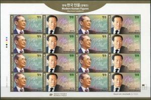 South Korea. 2015. Modern Korean Figures - Business Leaders (MNH OG) M/S