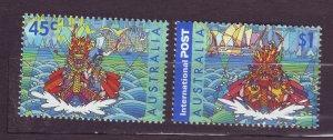 J23784 JLstamps 2001 australia set mnh #1977-8 boat race