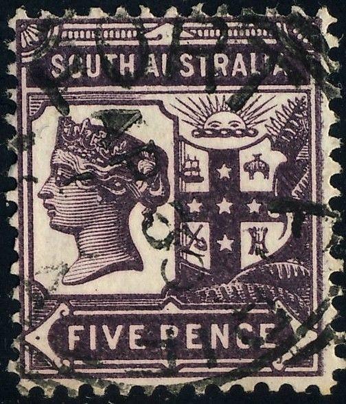 AUSTRALIA / SOUTH-AUSTRALIA ca.1900 PORT PIRIE Squared Circle DS ON SG 240