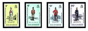 Ascension Is 173-76 MNH 1973 Military Uniforms