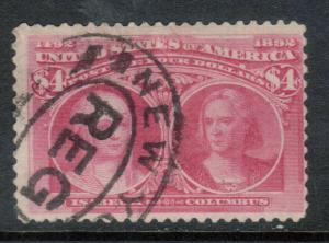 USA #244 Used Fine With NY Red Cancel