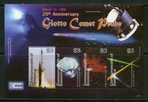 DOMINICA  20th ANNIVERSARY OF GIOTTO COMET PROBE SHEET MINT NH