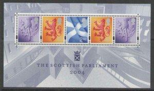 SCOTLAND SGMSS152 2004 SCOTTISH PARLIAMENT MNH
