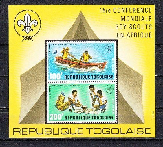 Togo, Scott cat. C199a. Scout Conference s/sheet