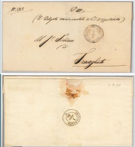 47087   LOMBARDO VENETO  storia postale - GOVERNO PROVISORIO : OSPEDALETTO  1860