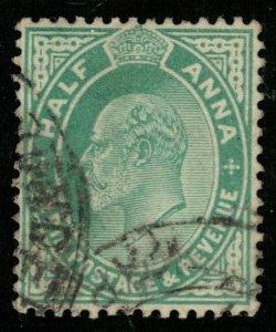 India, 1906, King Edward VII, Helf ANNA (T-6050)