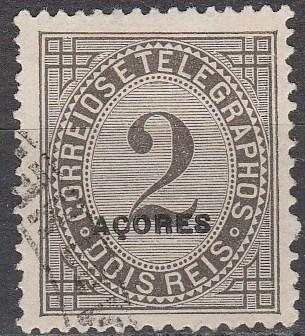 Azores #P3  F-VF  Used CV $3.00 (A16346)