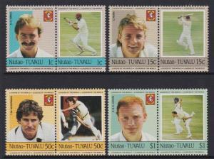 Tuvalu Niutao 1985 Cricket 21-24 MNH