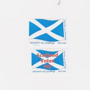 PABAY, British Local - 2014 - Scottish Referendum - Perf MNH 2v Stamps