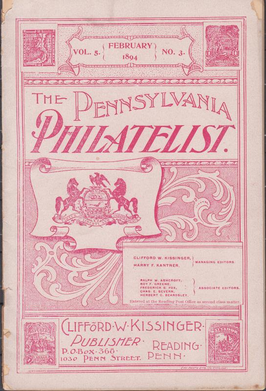 The Pennsylvania Philatelist - February 1894 No.3