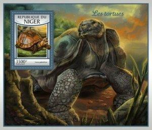 Niger - 2017 Turtles on Stamps - Stamp Souvenir Sheet - NIG17102b