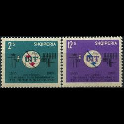ALBANIA 1965 - Scott# 814-5 ITU Cent. Set of 2 NH