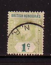 British Honduras Sc 58  1902 1 c Edward VII stamp used