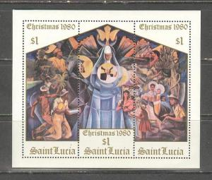 SAINT LUCIA Sc# 537 MNH VF Souvenir Sheet Christmas