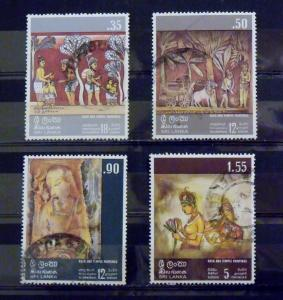 2364   Sri Lanka   Used, VF  # 478, 479, 480, 481  Paintings      CV$ 3.10