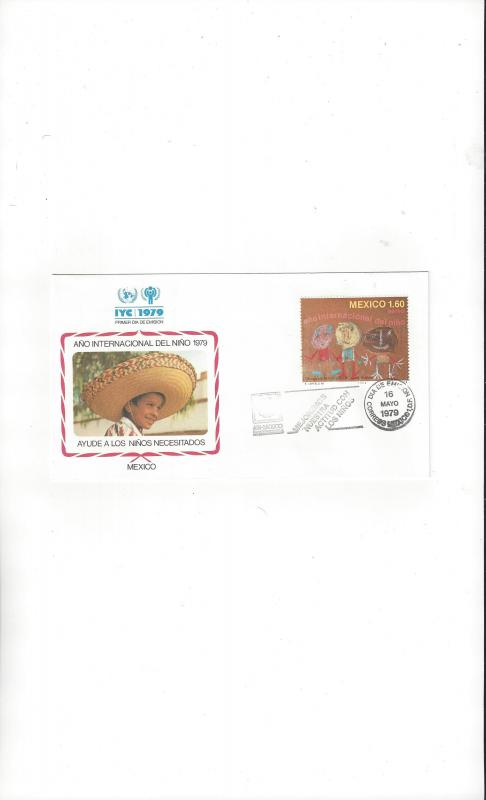 Mexico FDC International Year of the Child 1979 Official Cachet
