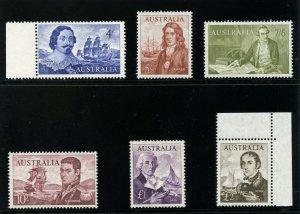 Australia 1963 QEII set complete MLH. SG 355-360.