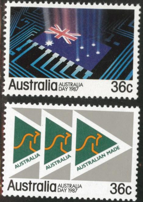 AUSTRALIA Scott 1009-10 MNH** 1987 Australia day stamp set