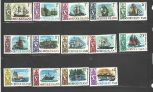 NORFOLK Isl. 1967-68 SHIPS #100-113 MNH