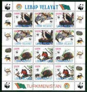 Turkmenistan (Lebap Velayat) 1998 WWF - Wild Animals &...