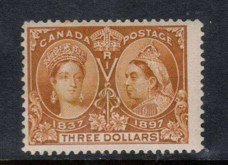Canada #63 Mint Fine Full Original Gum Lightly hinged - One Toned Perf At Top