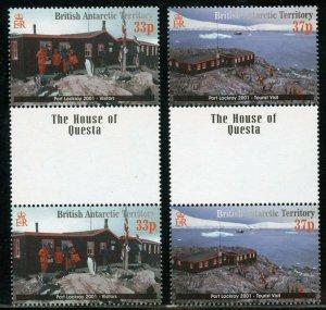 BRITISH ANTARCTIC TERRITORY SCOTT#297/300 GUTTER PAIRS MINT NH-SCOTT $53.00