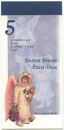 Canada - 1998 55c Angel with Toys Booklet #BK223a
