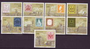 J22663 Jlstamps 1985 italy set mnh #1651a-i stamps
