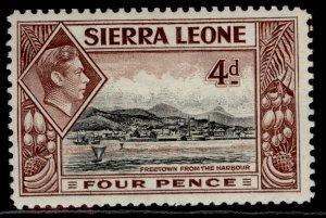 SIERRA LEONE GVI SG193, 4d black & red-brown, M MINT.
