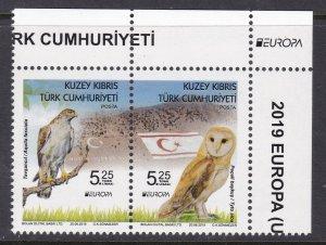 Northern Cyprus, Fauna, Birds, EUROPA MNH / 2019