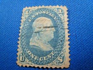 UNITED STATES, 1861 SCOTT #63 -  USED   (#2)