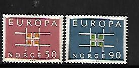 NORWAY, 441-442, MINT HINGED, EUROPA