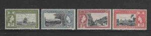 JAMAICA #155-158 1955 300TH ANNIV. JAMAICA MINT VF NH O.G
