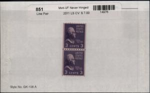 US 851 MNH Line Pair