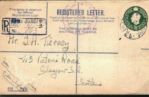 GB WW2 Cover Military POLISH FORCES *FPO 125*Italy Registered Glasgow 1945 O215