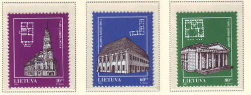 Lithuania Sc 502-4 1994 Churches stamp set mint NH