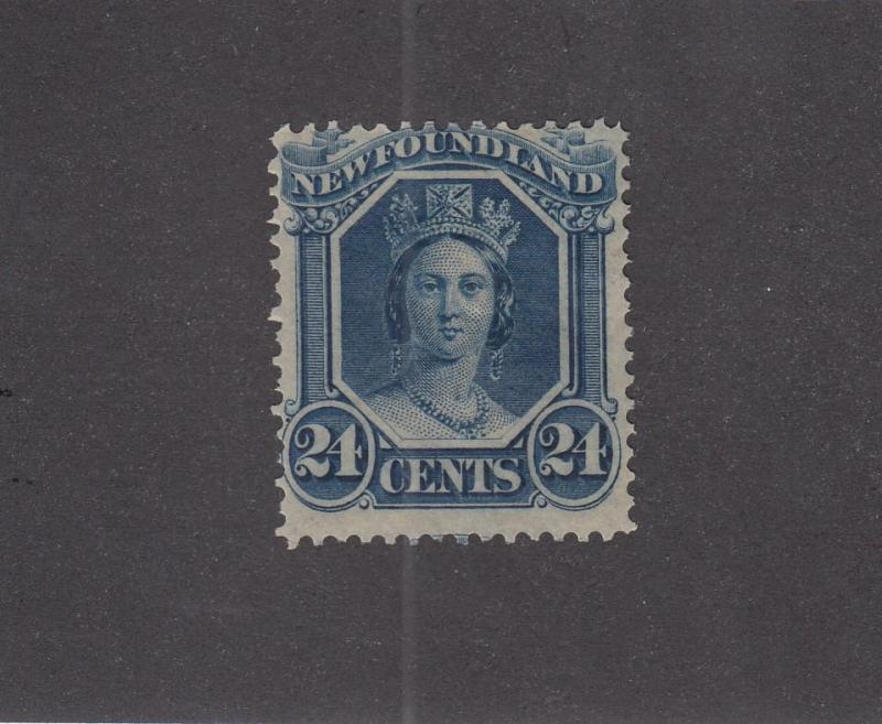 NEWFOUNDLAND # 31 F-VF-MLH QUEEN VICTORIA 24cts CAT VALUE $60