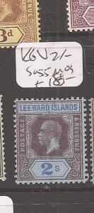 Leeward Islands KGV 2/-  SG 55 MOG (9cdz)