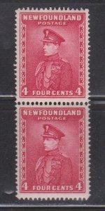 NEWFOUNDLAND Scott # 189 (NSSC # 183) MNH Pair - Scarce Perf 14.3 x 14.3 CV $90