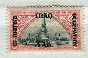 IRAQ; 1918 early BRITISH OCCUPATION issue Mint hinged 3a. value