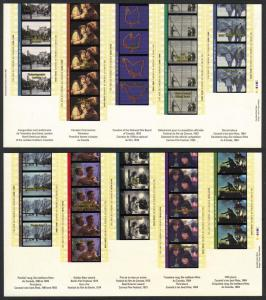 Canada #1615-16 mint Motion Picture Centenary, issued 1996