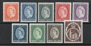 Saint Vincent - SG# 189 - 191 + 193 - 198 MLH  /  Lot 0419217