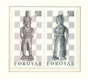 Faroe Islands Sc 93-4 1983 Chessmen stamps mint NH