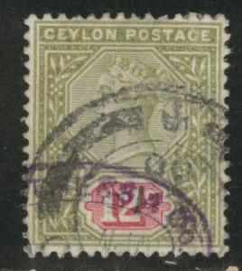 Ceylon Scott 135 Used 1899 Victoria