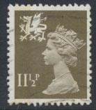 Great Britain Wales  SG W35 SC# WMMH16 Used  see scan 1 left side band