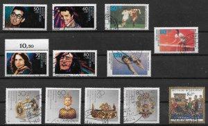 Germany  1988 all semi - postals used