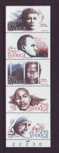 Sweden Sc 1622a 1986 Nobel Peace Prize stamp booklet mint NH