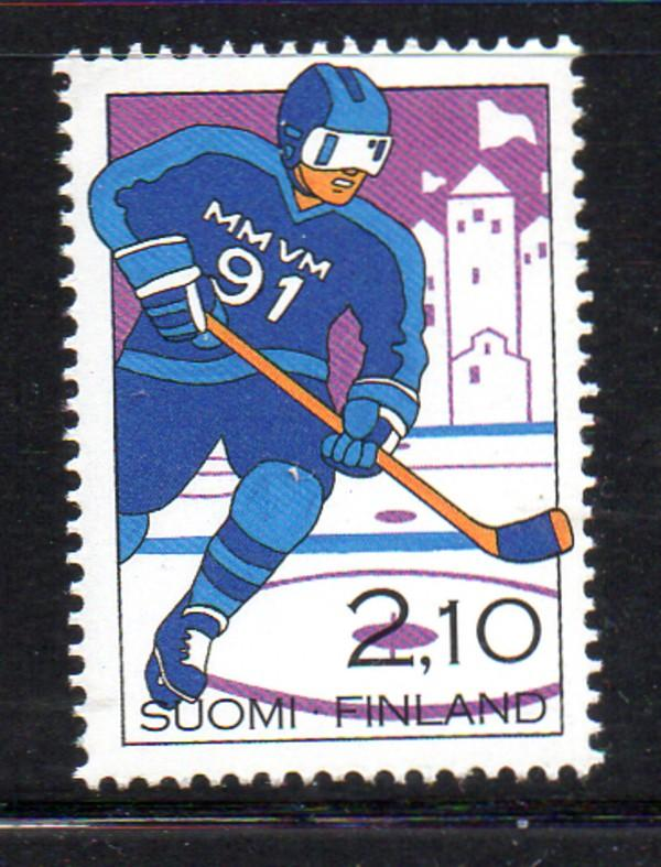 Finland Sc 846 1991 Hockey Championships stamp mint NH