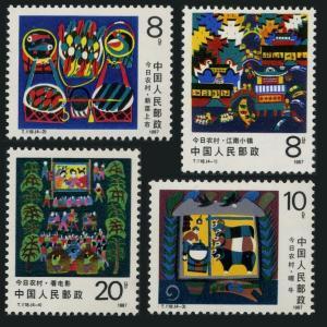 China MNH 2098-2101 Rural Development 1987